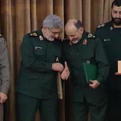 Gen. Esmail Qaani and Gen. Mohammad Hosseinzadeh Hejazi